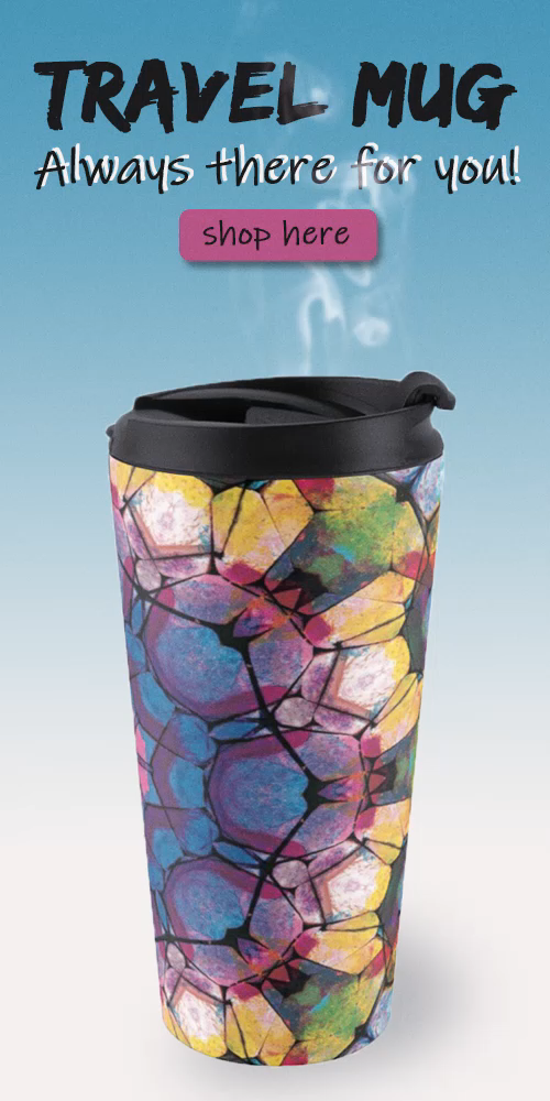 Mug holds 15oz (443ml), insulated stainless steel with removable lid. Features wraparound print with modern mandala design, top rack dishwasher safe. Shop on Redbubble: picipixel.redbubble.com Click to find dresses, stickers, posters, clocks, pillows, bags and much more! Need a unique gift idea for him / for her? Find your thing on Redbubble! #redbubble #findyourthing #mandala #mandaladesign #onlineshopping #travelmug #travel #accessories #coffee #coffeemug #mug #morningcoffee