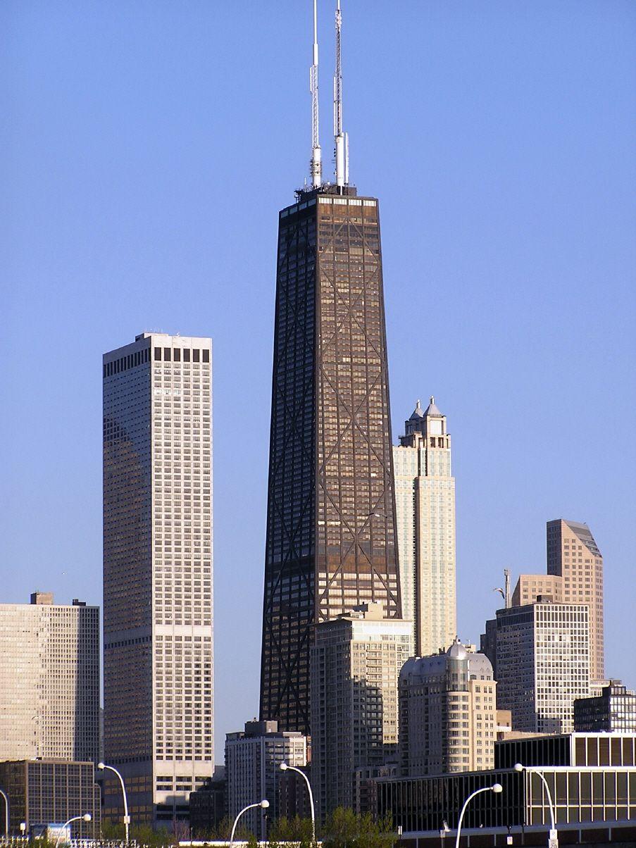 John Hancock Center Chicago Usa Chicago Buildings Milwaukee City Iconic Buildings