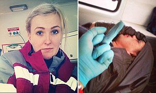 Russian paramedic who took selfies with dying patient is fired.