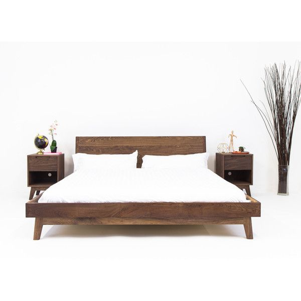 Modern Bed Bed Walnut Bed Midcentury Modern Bed Bed Frame King Bed