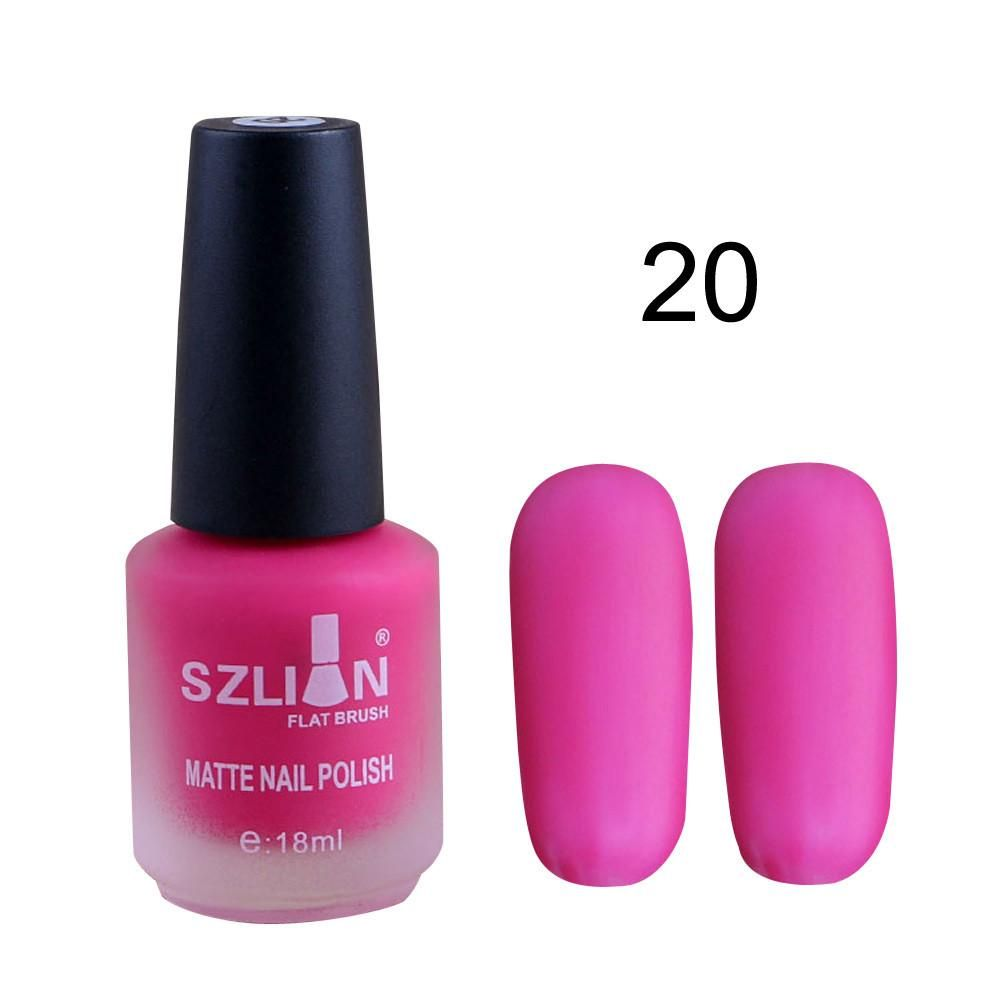 18ml Matte Dull Nail Polish Fast Dry Long Lasting Nail Art
