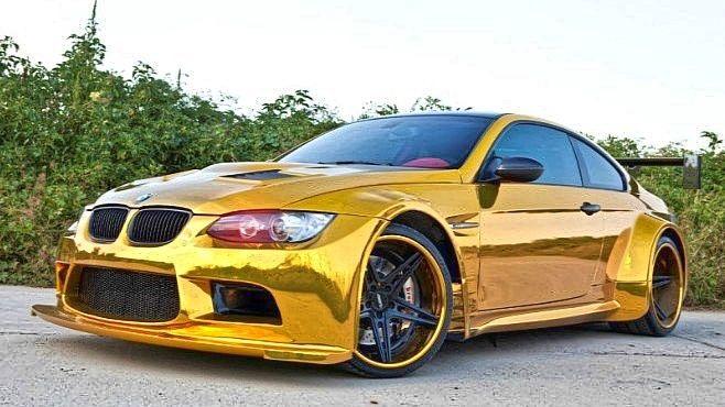 Bmw Gold Edition Bmw Bmw M3 Gold Car