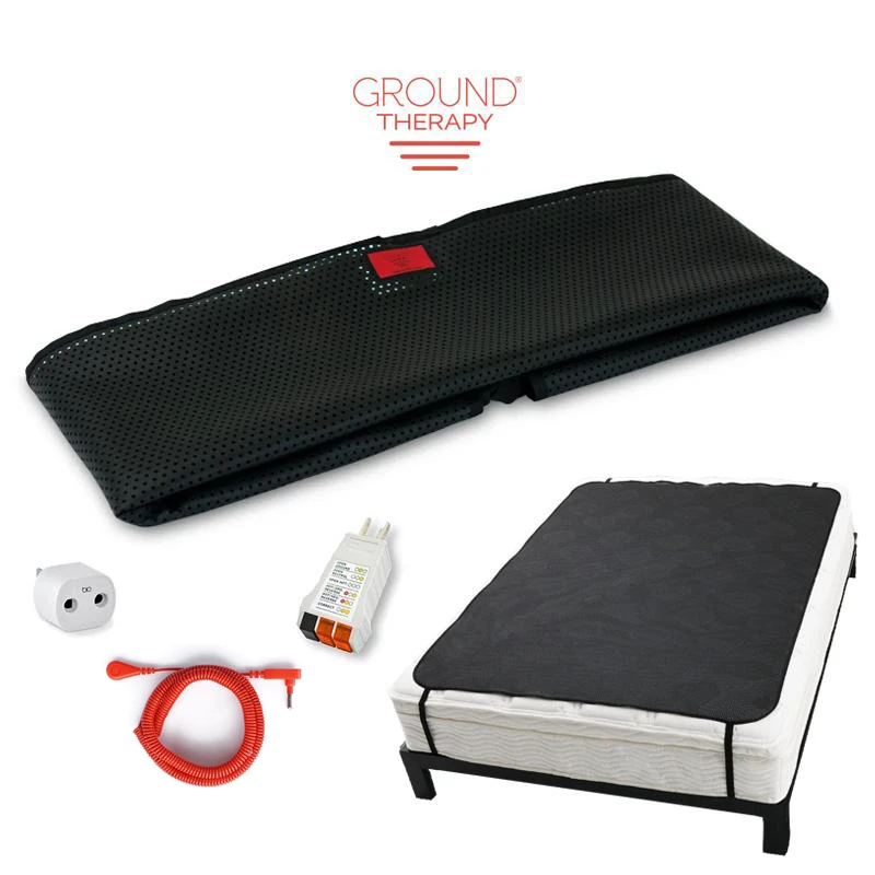 Ground Therapy Sleep Mat Kit Large Earthing Com In 2020 Grounding Rod Green Light Meaning Therapy