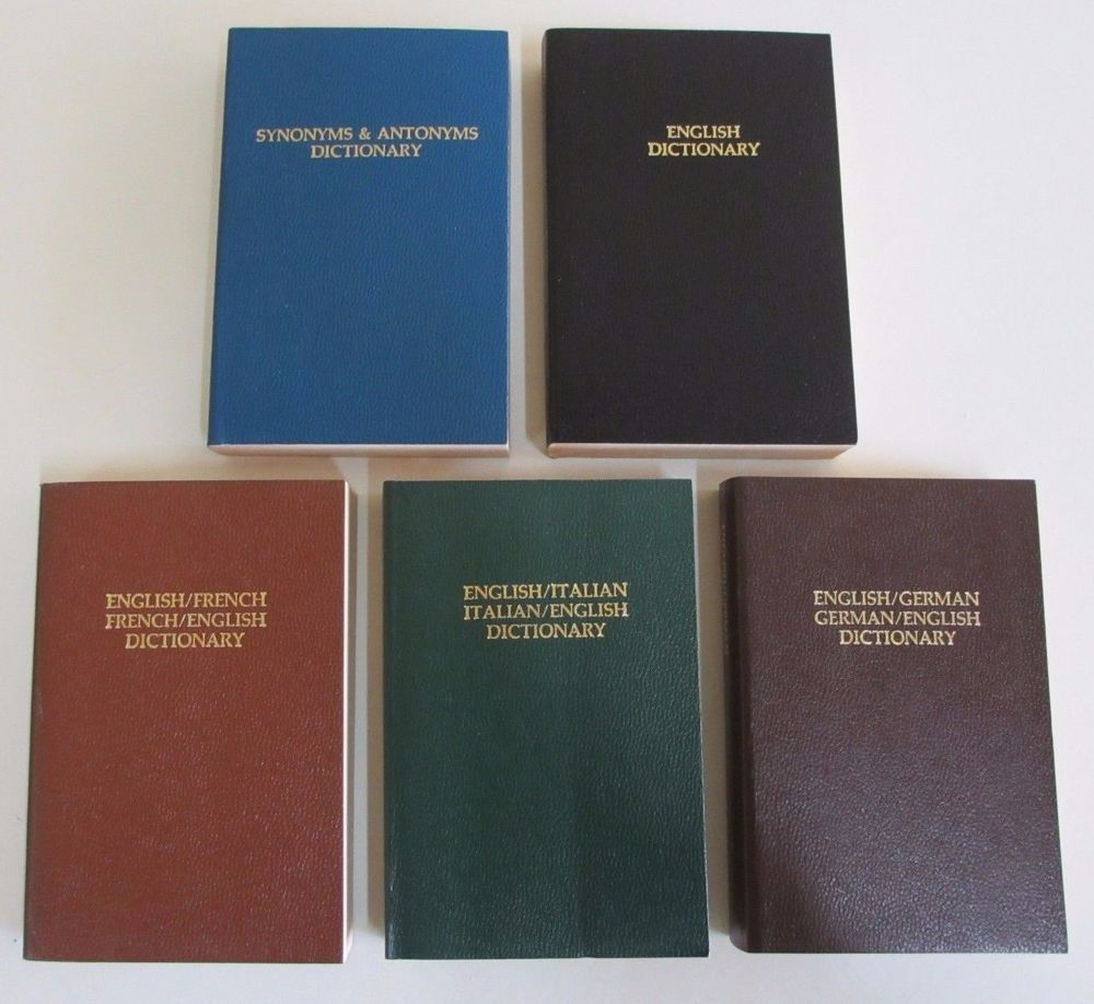 Five Dictionaries - Synonyms/Antonyms, English, French ...