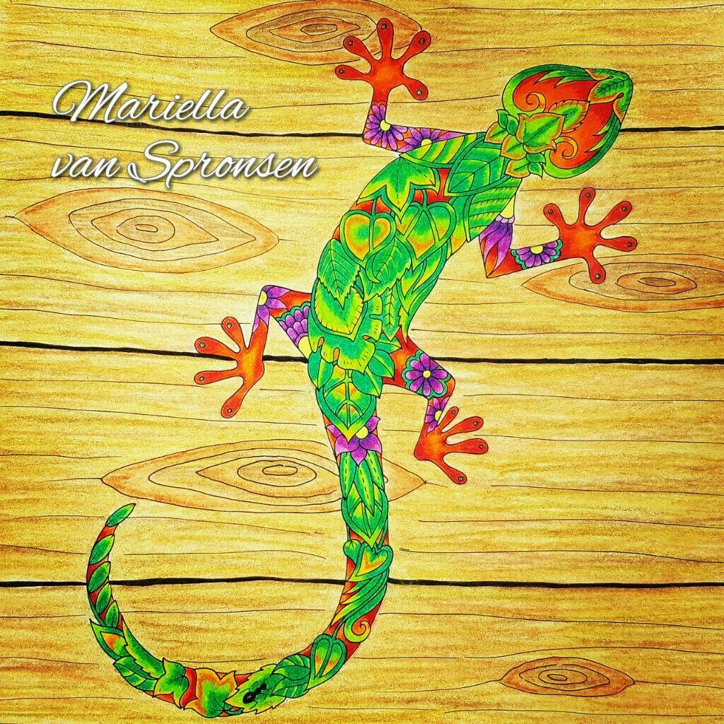 #johannabasford #magicjungle #prismacolor colored by mariella van spronsen