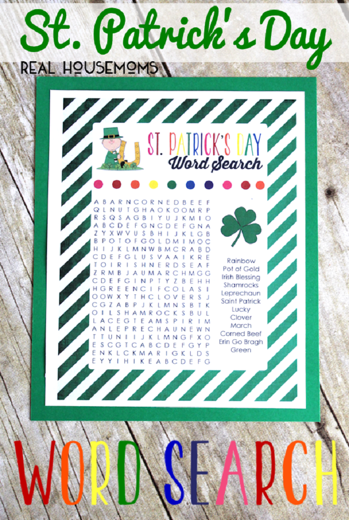 Host A St Patricks Day Word Search Contest St Patricks Day