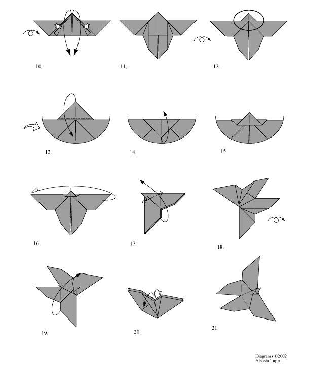 papillon en origami facile