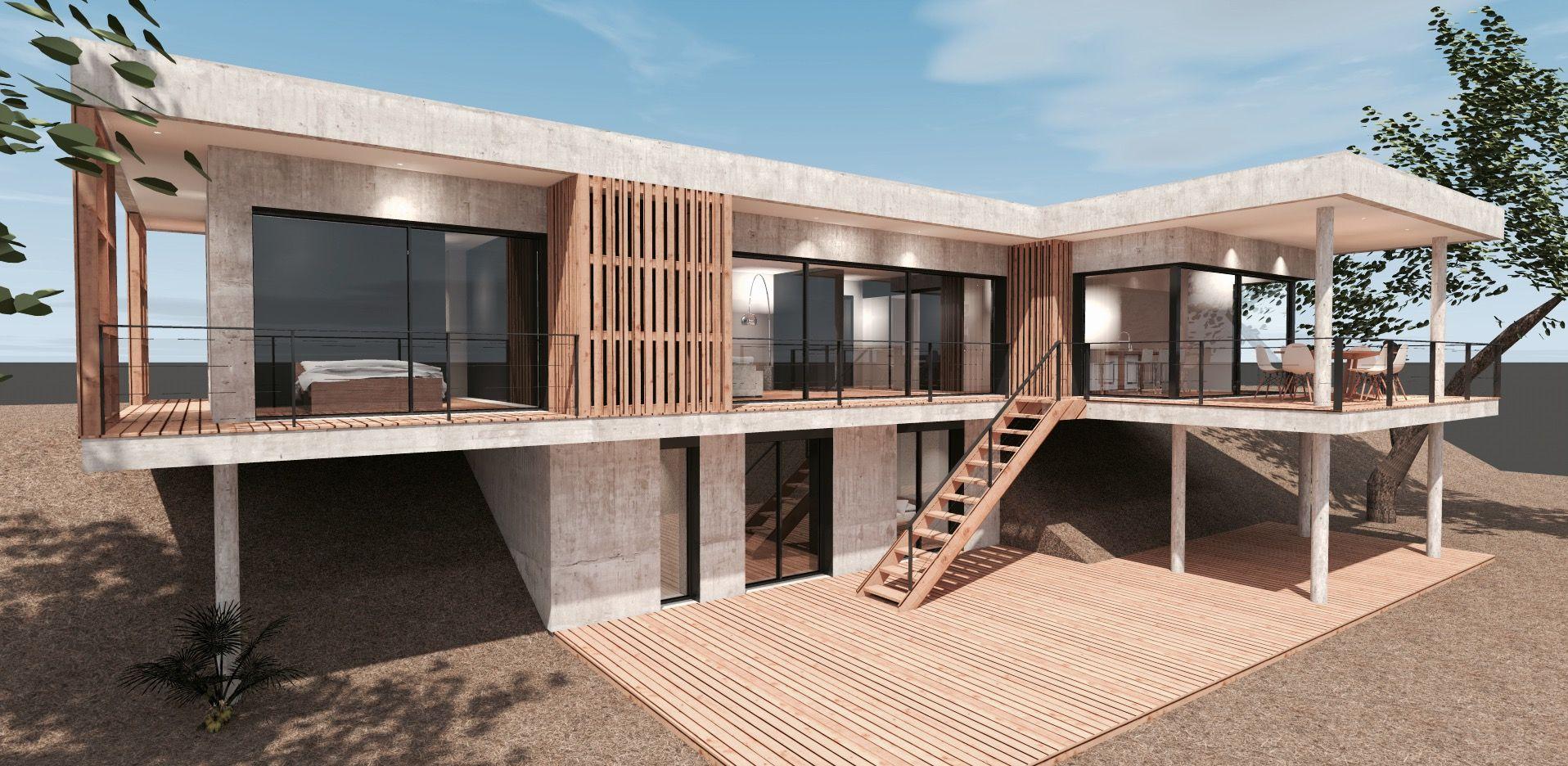 architecte dintrieur arcachon maison bois et verre bassin d arcachon mcc previous next. Black Bedroom Furniture Sets. Home Design Ideas