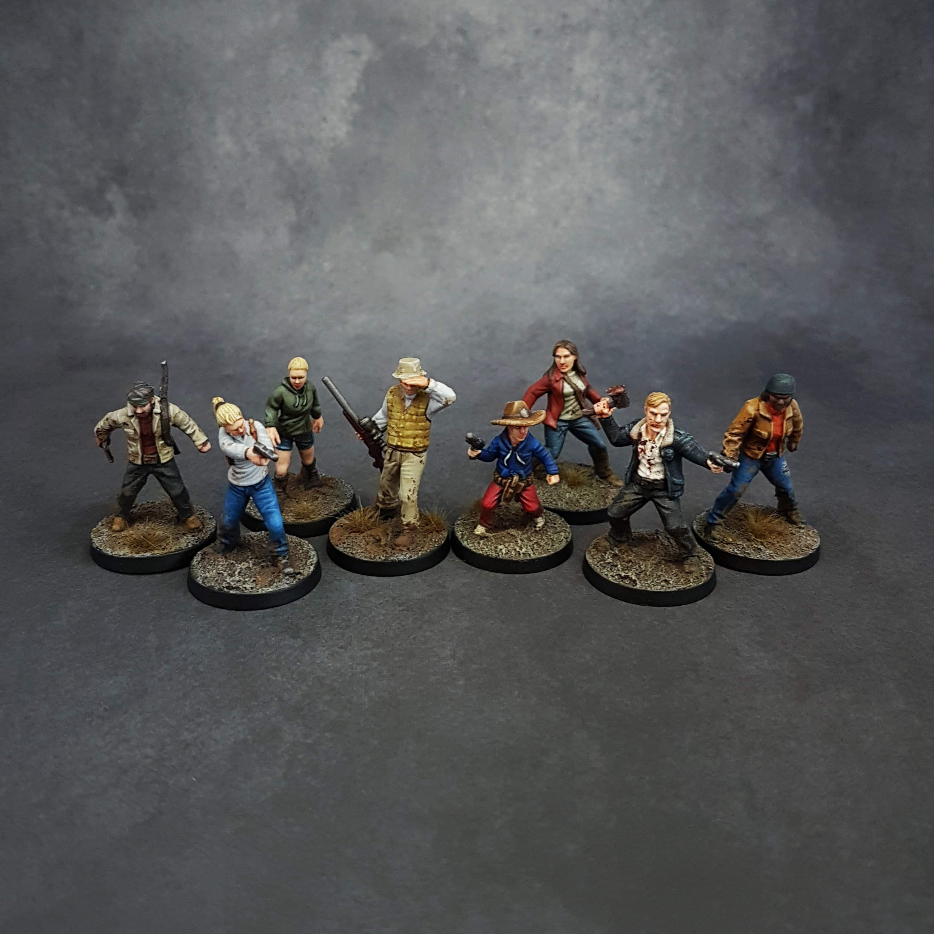 Painted miniatures from Mantic Games tabletop The Walking