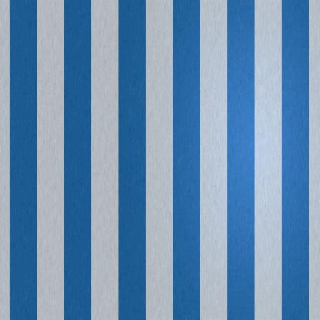 Azul y blanco de las rayas verticales del papel pintado - Papel pared rayas verticales ...