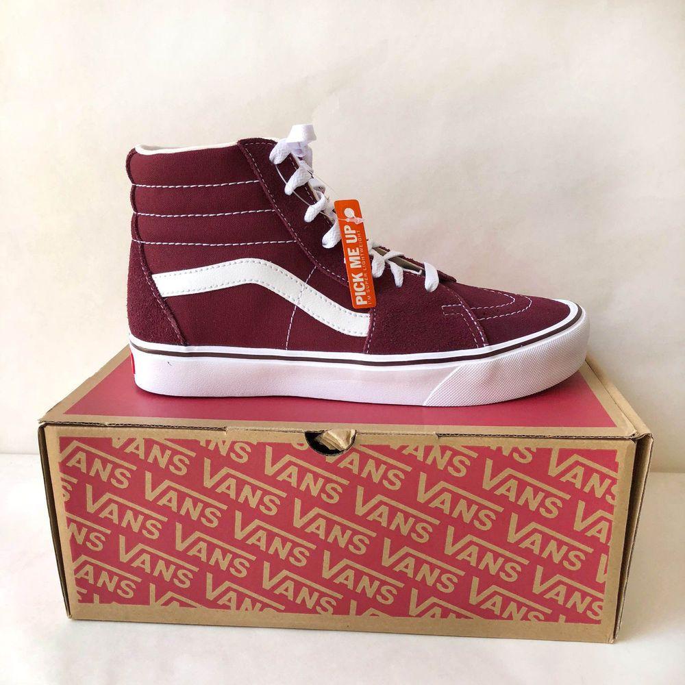 f4cd0d0e80779e Vans Men s Shoes Suede Canvas Sk8-Hi Lite Port Royal True White NIB ...