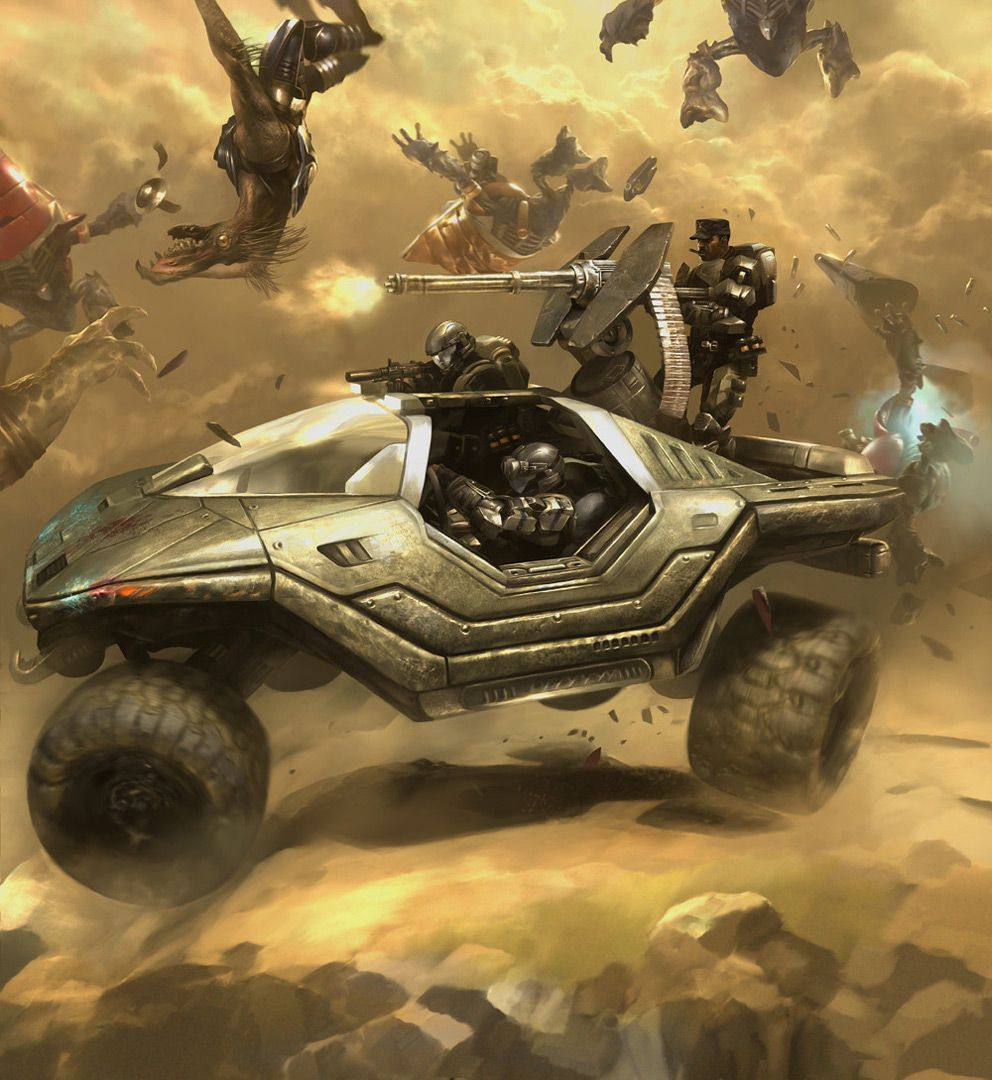 Concept Art Halo 3 Odst Lost Platoon 2d Digital Concept Art