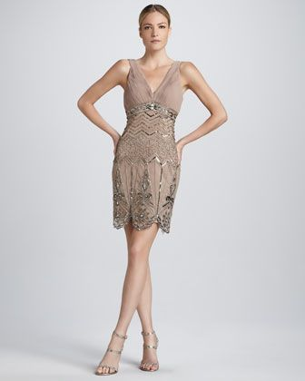3f8f703dc08 Sleeveless Beaded Cocktail Dress by Sue Wong at Neiman Marcus. Reminds me  of art deco - great gatsby