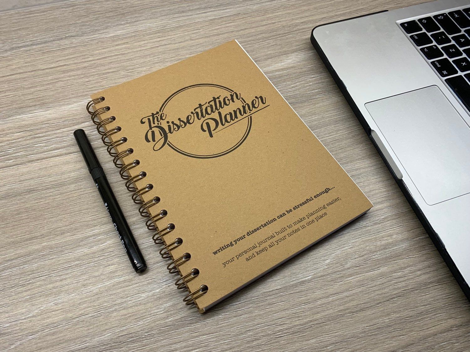 The Dissertation Planner A5 180 Page Notebook Journal Etsy In 2020 Planning Tool