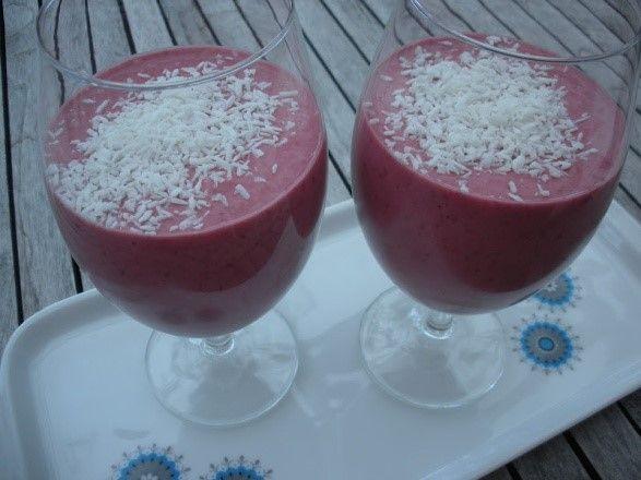 smoothie med kokosmjölk