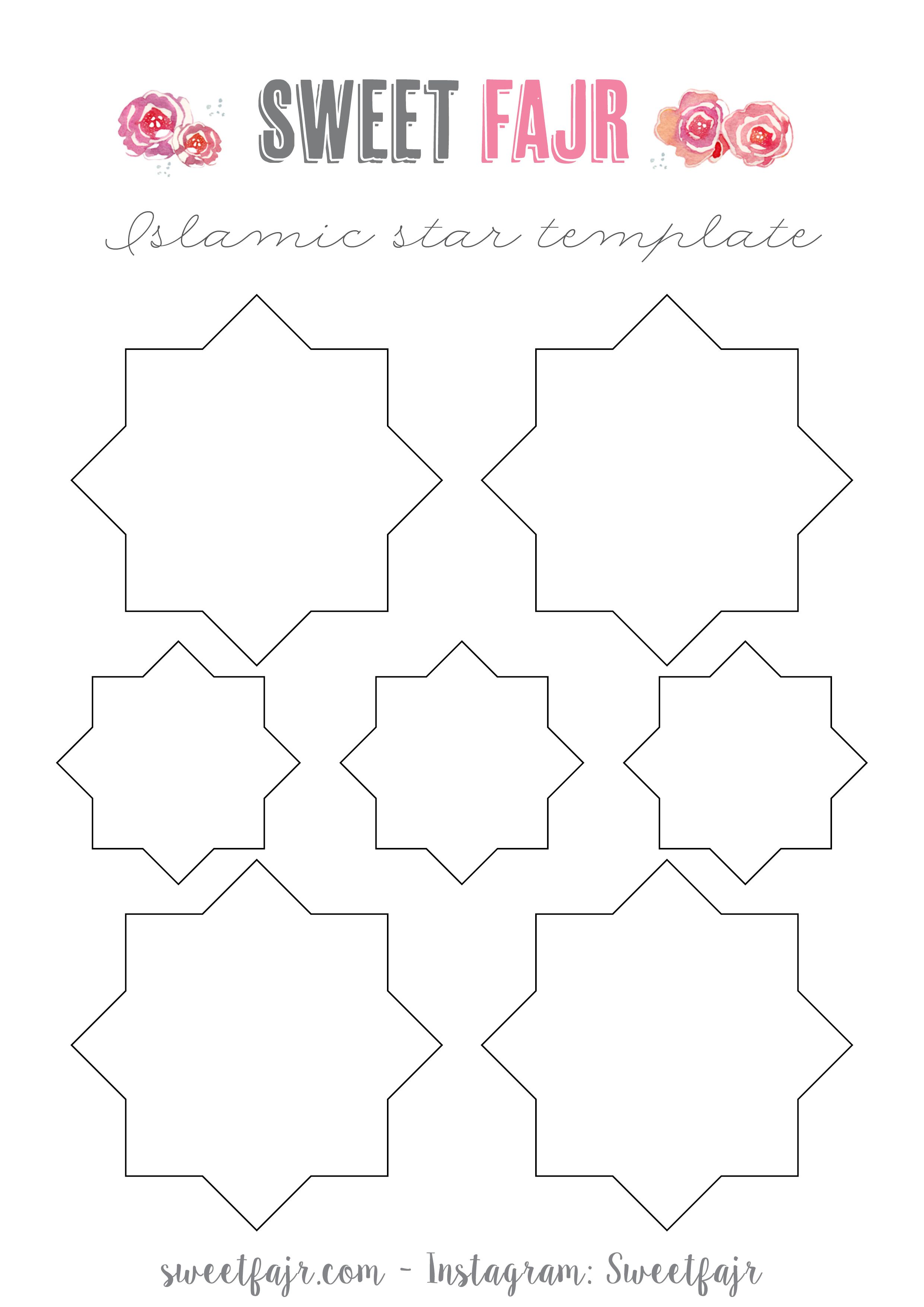 Eid Decor Islamic Stars - Sweet Fajr | Ramadan | Pinterest | Eid ... for islamic lantern template  174mzq