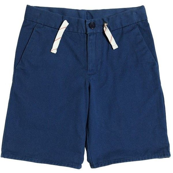 Ralph Lauren Childrenswear Kids-boys Cotton Gabardine Shorts (470 NOK) ❤ liked on Polyvore featuring blue