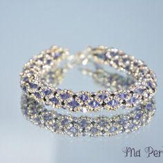 "Bracelet cristal swarovski mauve ""personnalisable"""
