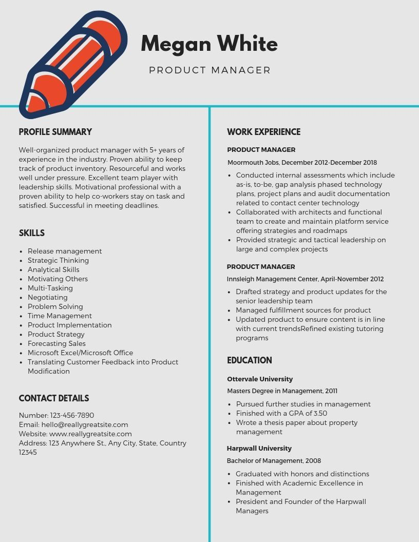 Want to create or improve your Product Manager resume? The