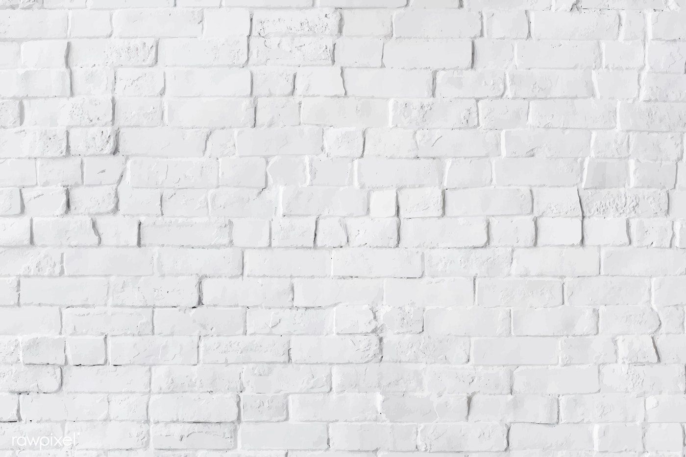 White brick wall textured background vector free image
