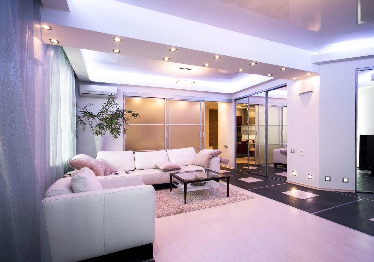 Beleuchtungsideen Für Wohnzimmer  Mit Deckenleichten Und Indirekter Deckenbeleuchtung Design
