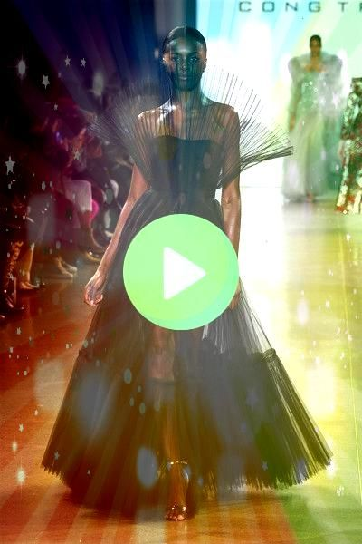 model walks the runway for the Cong Tri fashion show during New York Fashion Week The Shows at Gallery II at Spring Studios on February 11 2019 in New York CityA model wa...