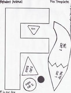 miss maren s monkeys preschool fox template letter f pinterest