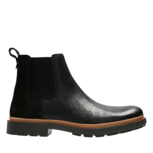 CLARKS Trace Beam - Black Leather