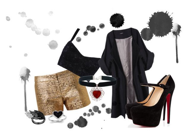 """""""hyuna"""" by anabellaburgio ❤ liked on Polyvore featuring Lanvin, Dolce&Gabbana, Merci Me London, Christian Louboutin, Kevin Jewelers, modern, women's clothing, women, female and woman"""