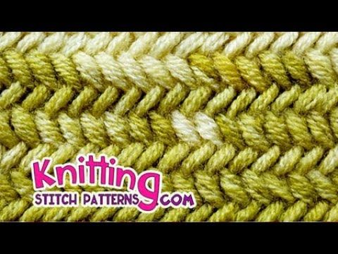 Knit Herringbone stitch & How to Bind off - YouTube | TEJIDO ...