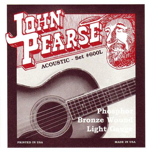 John Pearse 600l Phosphor Bronze Wound Acoustic Guitar Strings Light Acoustic Guitar Strings Guitar Strings Guitar