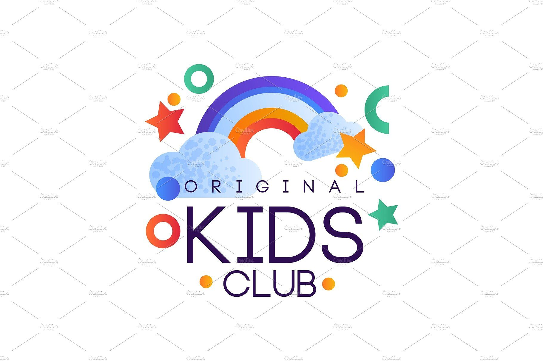 Kids Club Logo Original Colorful Creative Colorful Template