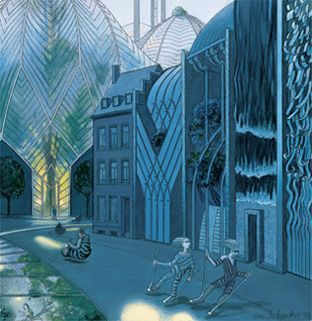 the changing face of Brussels - Luc Schuiten