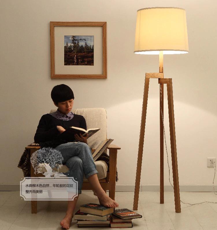Nordic Ikea Wood Floor Lamp Modern Living Room Bedroom Ash Wood Floor Lamp Ikea Wood Modern Living Room