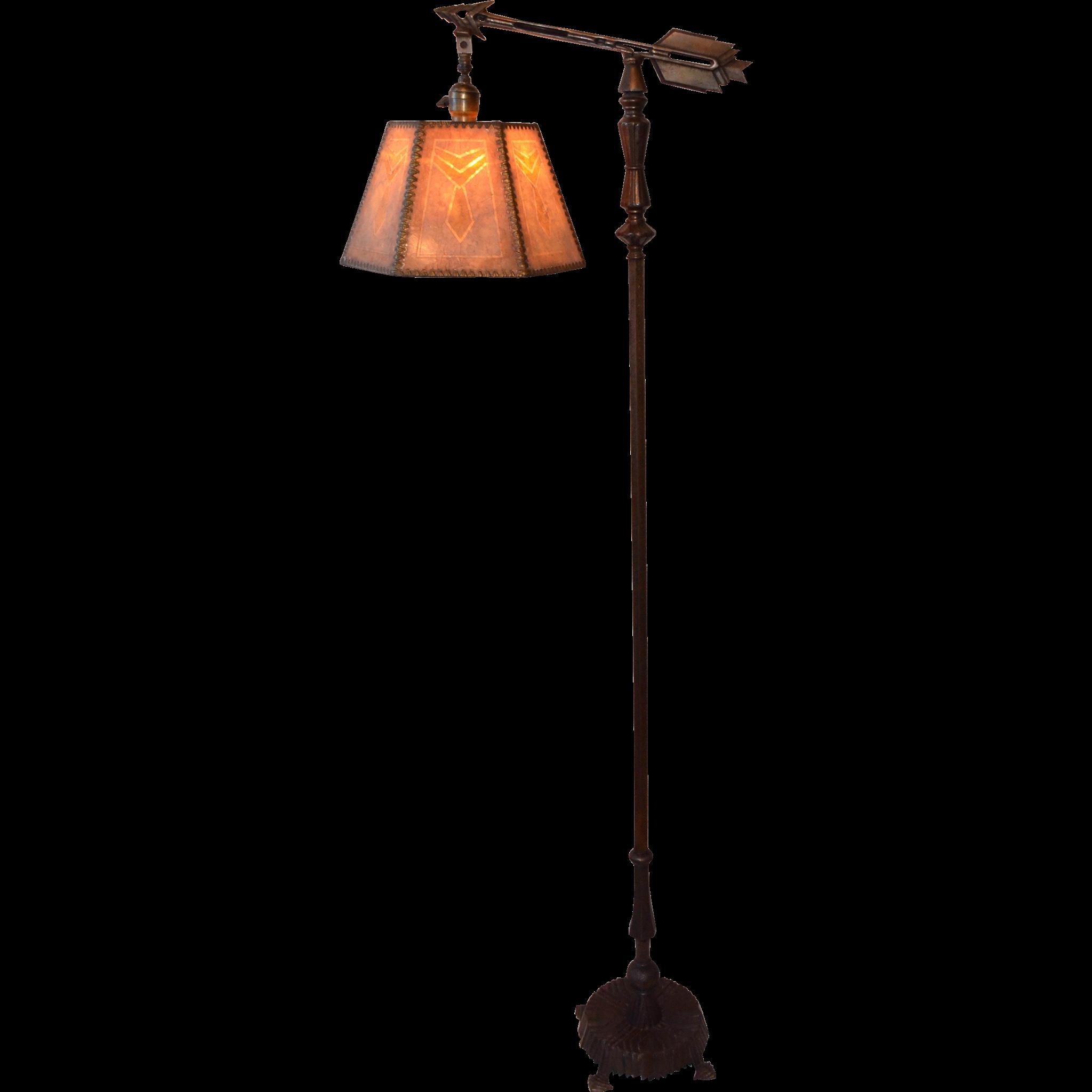 art deco bridge lamp with original mica shade Rob s lamps