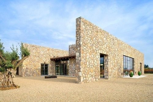 incroyable maison pierre contemporaine au c ur de vignes californiennes mon projet villa. Black Bedroom Furniture Sets. Home Design Ideas