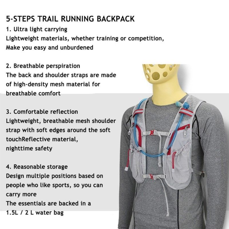 Marathon Running Cycling Vest Backpack Sport Breathable Hydration Pack Water Bag