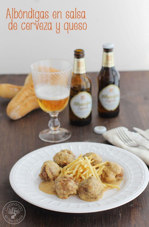 Albóndigas En Salsa De Cerveza Y Queso Cocinando Entre Olivos Salsa De Cerveza Guiso De Carne Recetas Con Carne Picada
