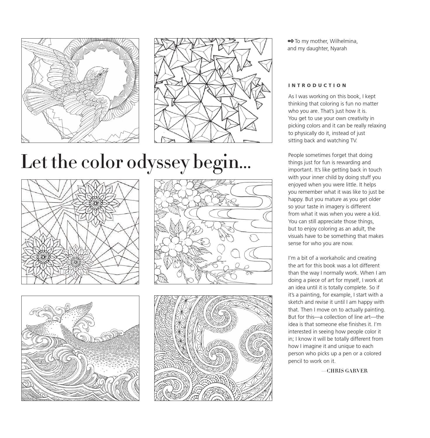 Color odyssey newspaper and adult coloring