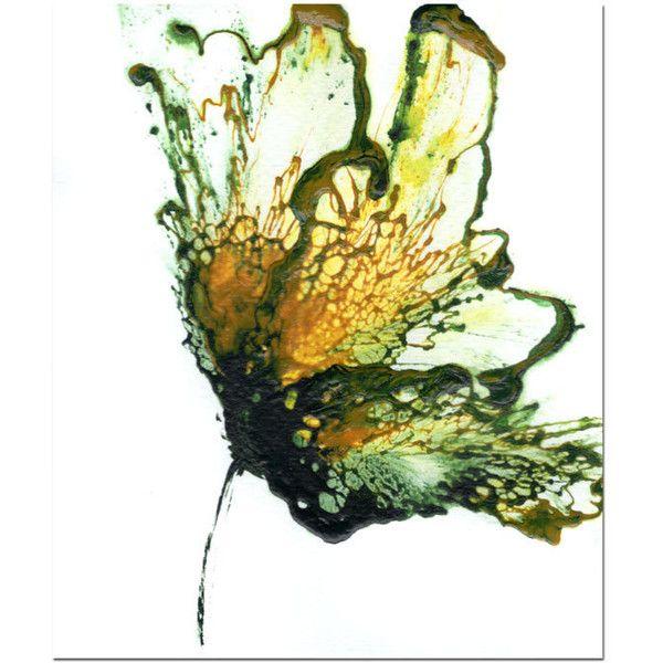 Unique Flower Art, Green Art, Botanical Painting, Original Wall Art ...