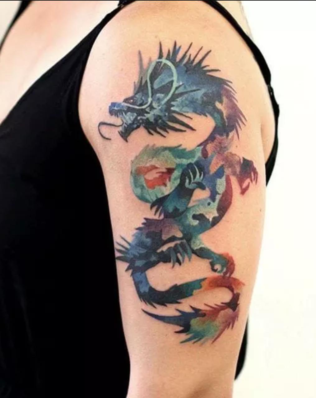 Chinese Zodiac Dragon Tattoos Dragon Tattoo Chinese Dragon Tattoos Watercolor Dragon Tattoo