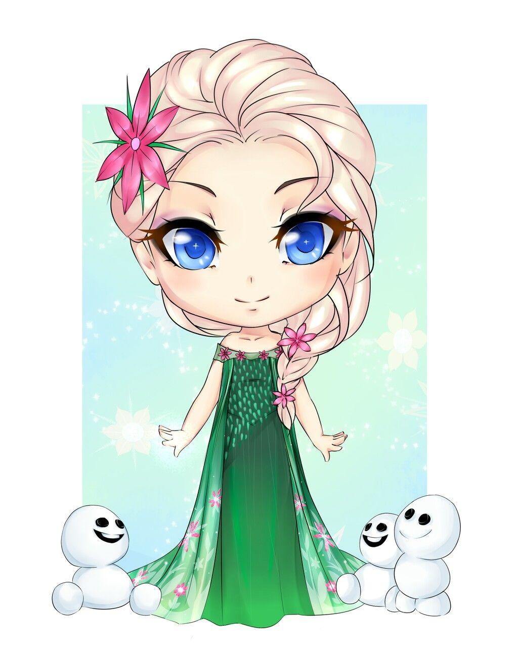 Chibi Elsa Dibujos Kawaii Dibujo Gato Facil Dibujos Bonitos
