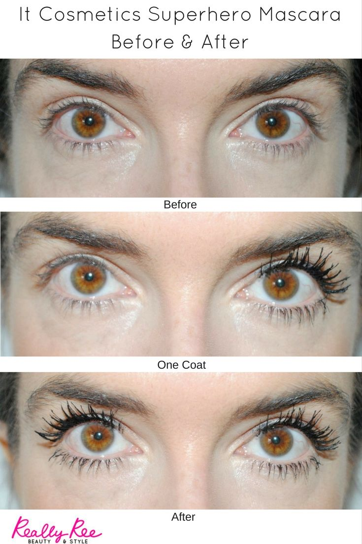 b16400b5ec2 Check out my before & after of the It Cosmetics Superhero Mascara. Click  through to read my full review. I love it!