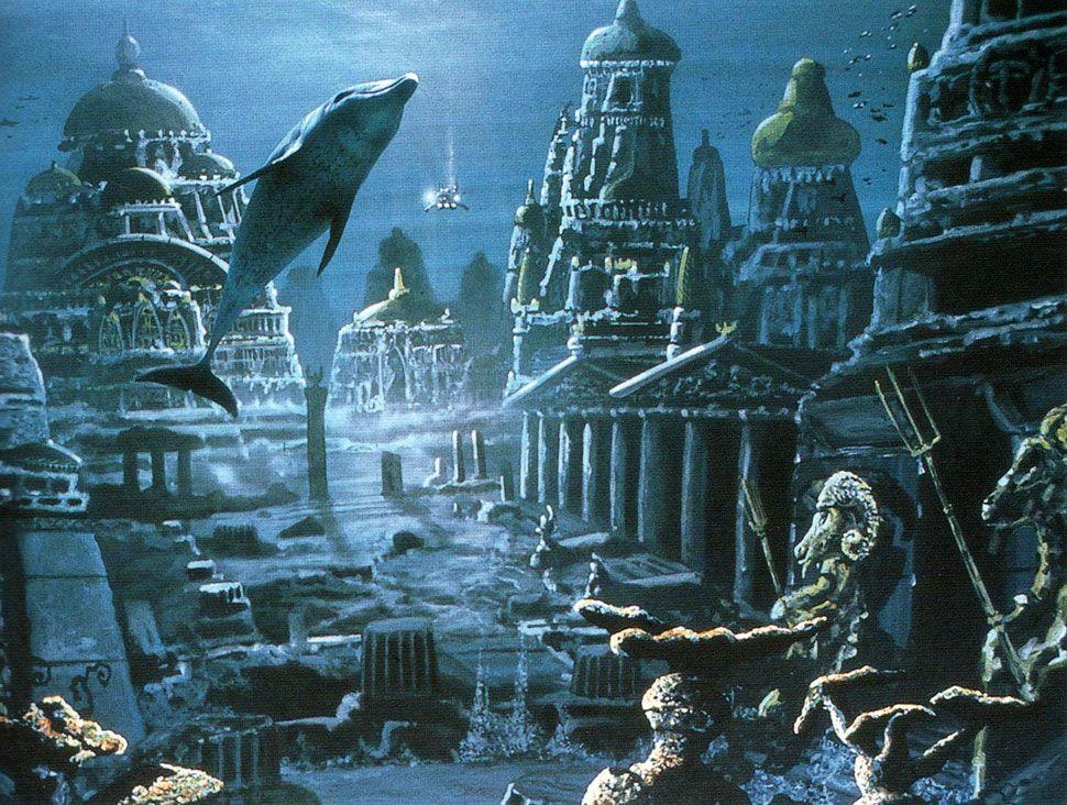 Resultado de imagen de La atlantida inundada bajo las aguas