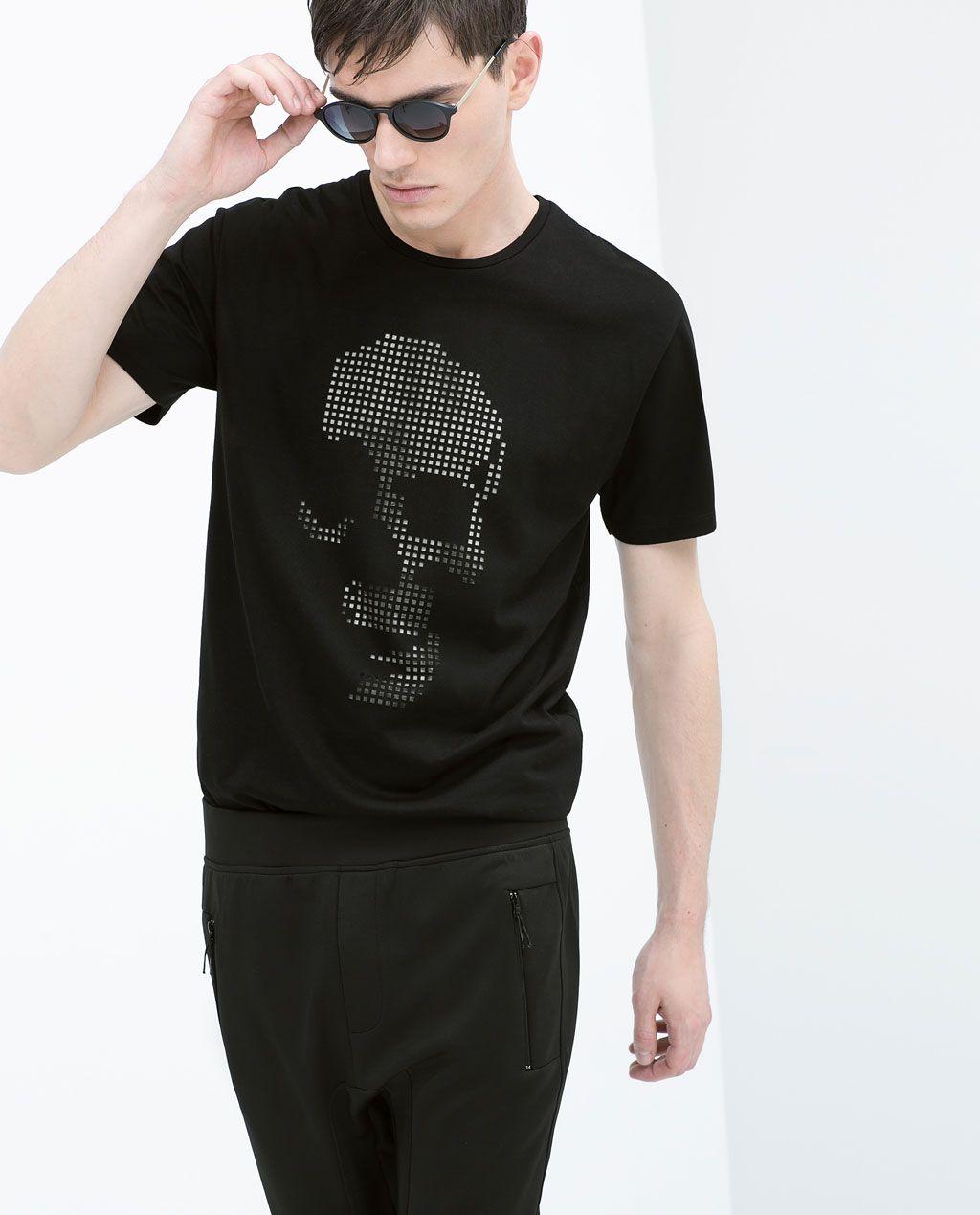CUT-OUT SKULL T-SHIRT-Pattern-T-shirts-MAN | ZARA Hong Kong S.A.R. of China