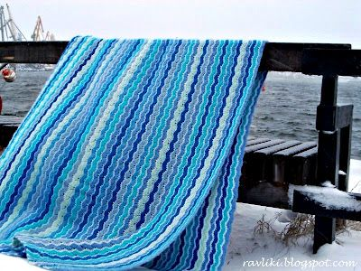 Sea Wave Blanket tutorial with chart by Sea Snail Shell