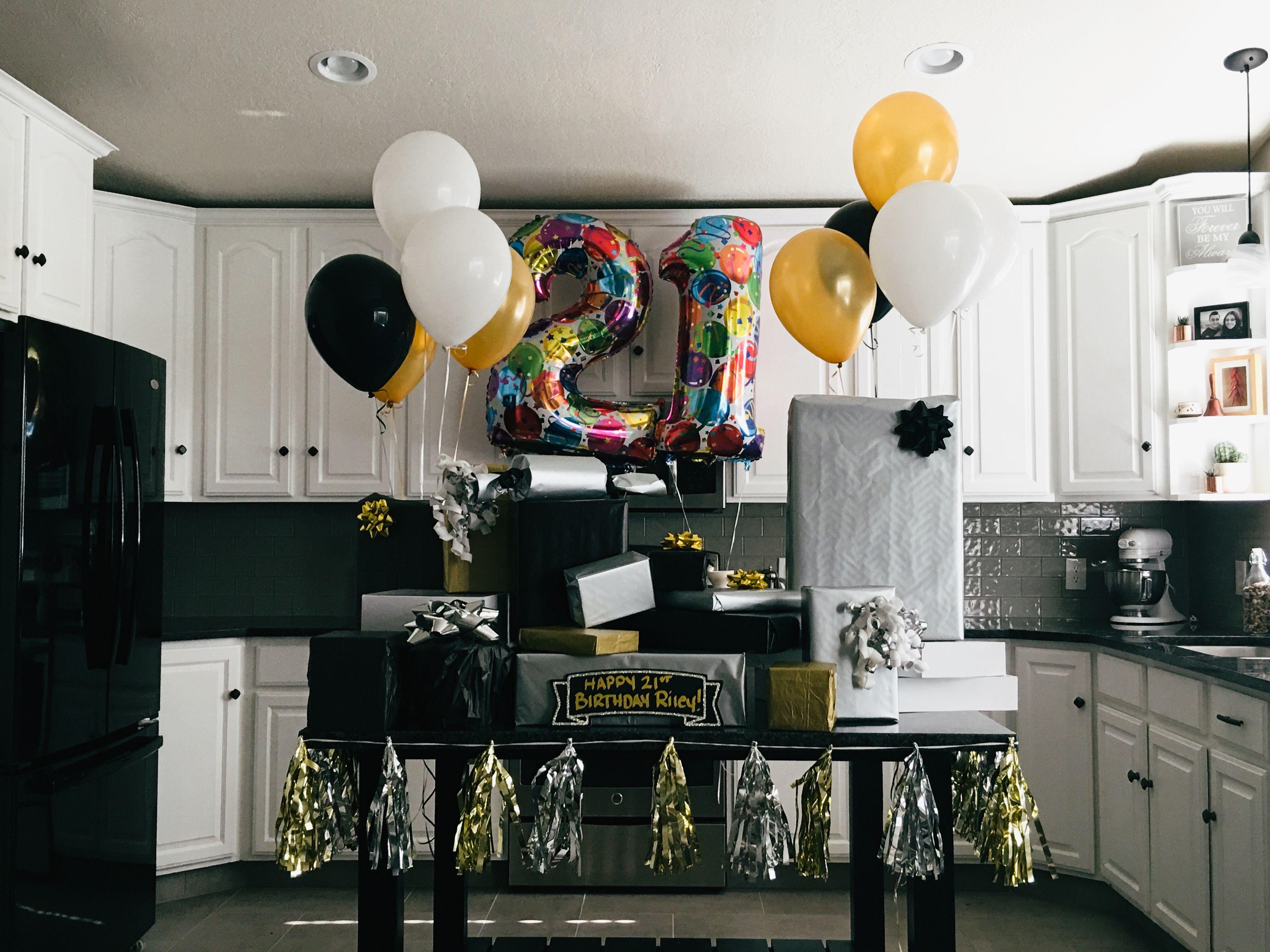 21st birthday surprise presents for boyfriend birthday or