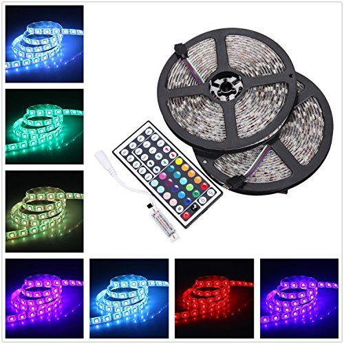 Ishining 328ft10m 2 Rolls Dc 12v Flexible 5050 Rgb Led Strip Light Waterproof Multicolored Led Ta Rgb Led Strip Lights Led Strip Lighting Color Changing Lights