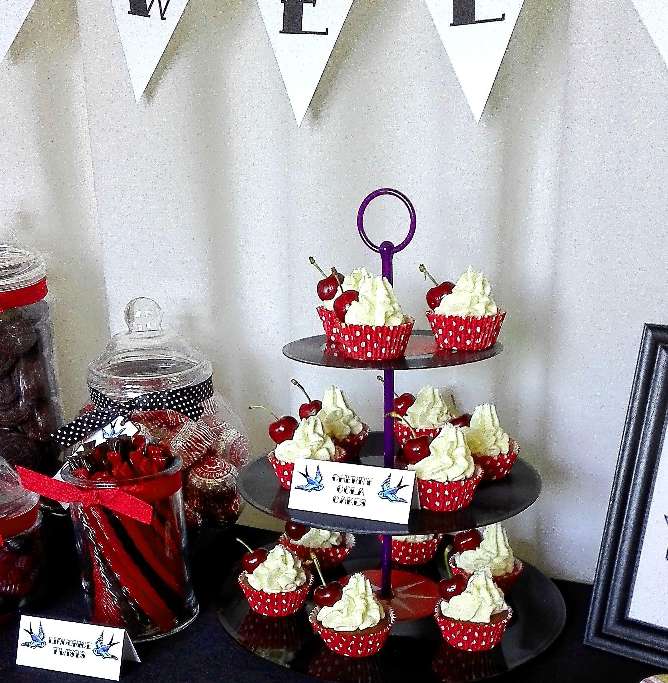 Rockabilly Wedding Ideas: Rockabilly Wedding Sweet Buffet Sweet Table Candy Bar