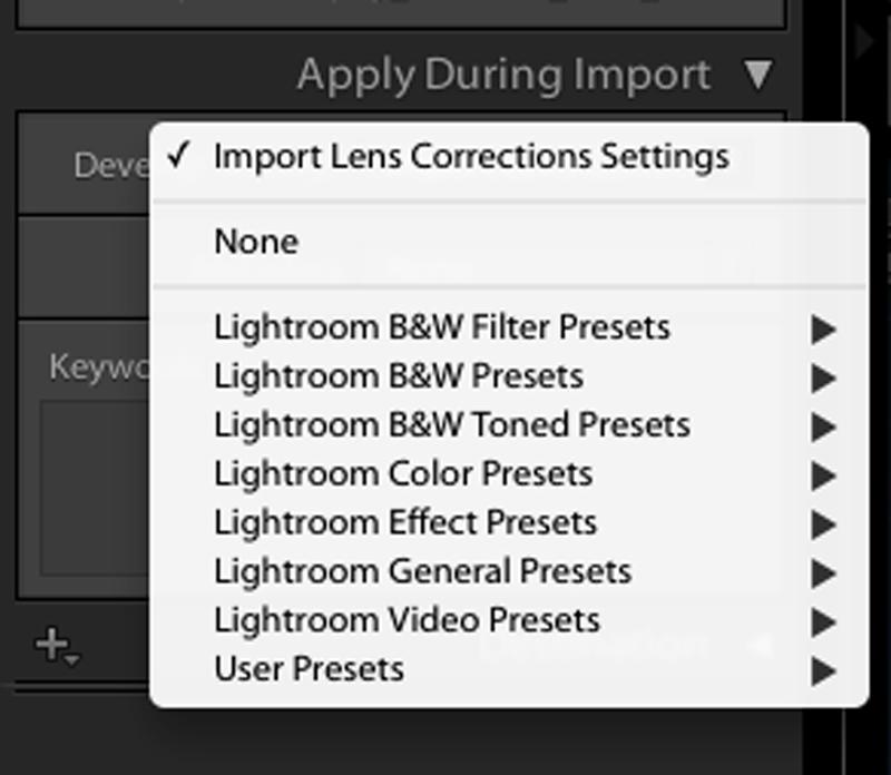 Apply Lightroom Development Presets On Import Lightroom